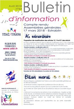 Bulletin d'information n°64 avril 2018