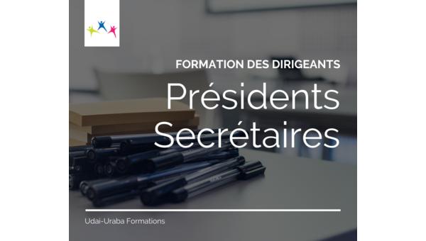 Formation : présidents et secrétaires - samedi 29 mai - 9h/12h