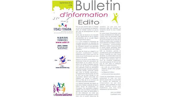 Le Bulletin d'information n�58 est en ligne !