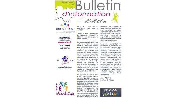 Le bulletin d'information n°62 est ligne !