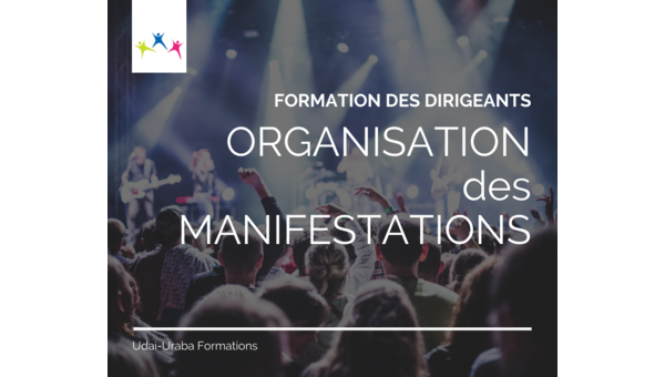 Formation des dirigeants : l'organisation de manifestations
