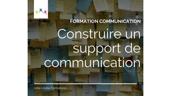 Formation communication : construire un support de communication