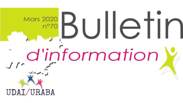 Le bulletin d'information n°70 est en ligne !