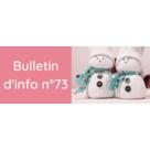 Le bulletin d'information n°73 est en ligne !