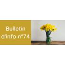 Le bulletin d'information n°74 est en ligne !