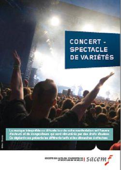 plaquette Sacem 2017 forfait concert/spectacle de variété