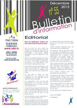 Bulletin d'information n°55 - Décembre 2015
