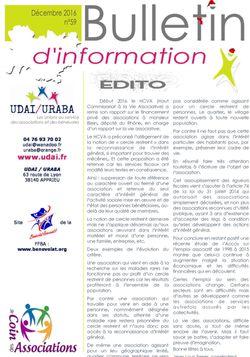 Bulletin d'information n°59 - décembre 2016