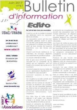 Bulletin d'information n°61 - juin 2017