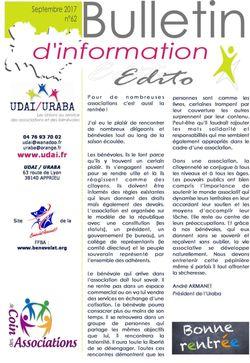 Bulletin n°62 - septembre 2017