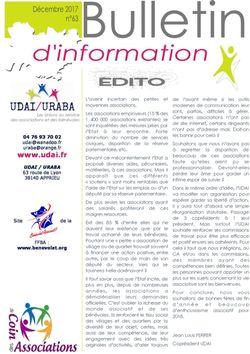 Bulletin n°63 - décembre 2017