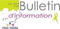 Bulletin d'information n°65 juin 2018