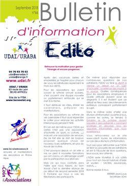 Bulletin d'information n° 66 septembre 2018