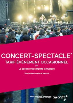 """Plaquette Sacem 2018/2020 forfait """"Concert/spectacle de variété"""""""