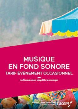 """Plaquette Sacem 2018/2020 forfait """"Fond sonore"""""""