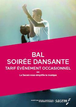 """Plaquette Sacem 2018/2020 forfait """"Bal/soirée dansante"""""""