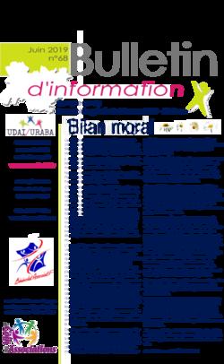 Bulletin d'information n° 68 juin 2019