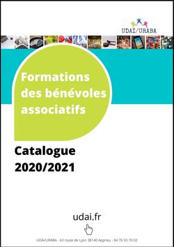 Catalogue des formations udai 2020-2021