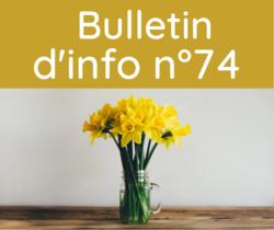 Bulletin d'information n° 74 décembre 2021