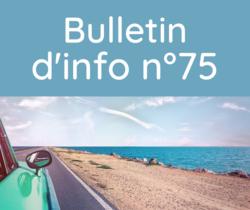 Bulletin d'information n° 75 juin 2021